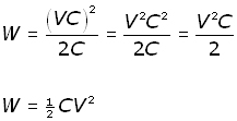 capacitor energy - equation #6