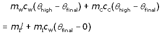 method of mixtures equation