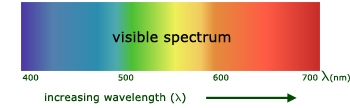 electromagnetic spectrum - visible light